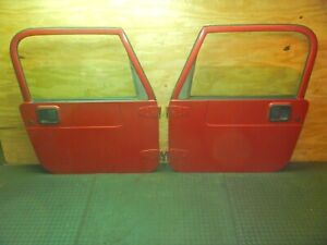 Jeep Wrangler Tj 97 06 Red Full Hard Door Pair Oem Freight Shipping