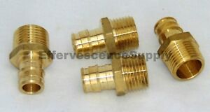 lot Of 4 1 2 Propex X Npt Male Adapter wirsbo Style Lead Free Brass