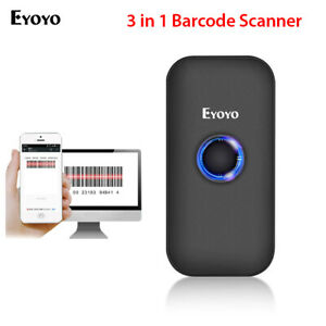 3 In 1 Bluetooth Barcode Scanner 1d Screen Scanning For Phone Pc Android Phones
