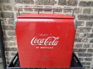 1950s Coca Cola Coke Cooler With Ice Tray