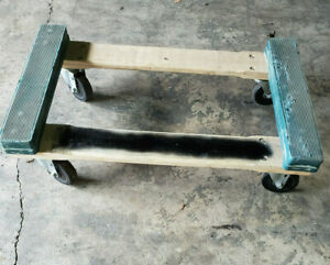 Lot Of 10 Hardwood Rubber End Dolly Four Wheeler Moving Cart 4 Casters 750lbs