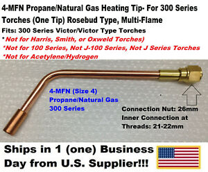4 mfn Propane natural Gas Heating Tip 1 Tip 300 Series For Victor Type Torches