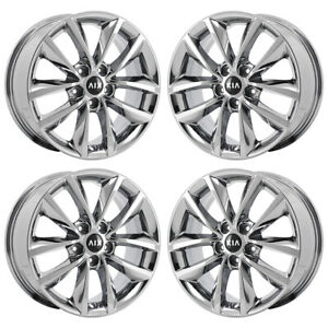 17 Kia Sorento Sportage Pvd Chrome Wheels Rims Factory Oem Set 74735