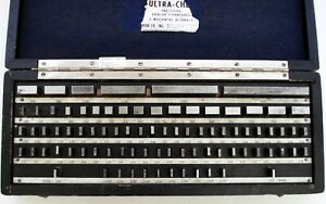Ultra Chex Precision Length Standards 5 millionth Accuracy Gauge Gage Block Set
