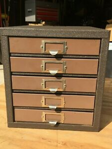 Rare Vintage Kennedy 5 d 5 drawer Machinist Tool Box Cabinet Parts Bin Awesome