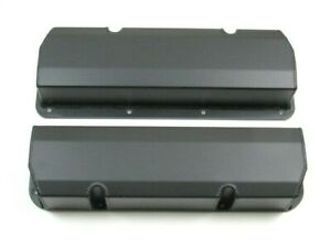 Ford 351c Tall Fabricated Aluminum Valve Cover Pair Black Coated Bpe 2335bc