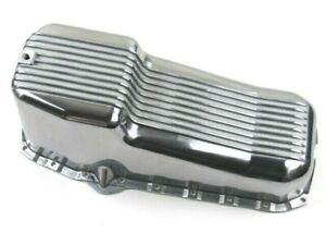 1955 79 Sbc Chevy 350 Aluminum Finned Oil Pan Driver Side Dip Polished Bpe 6001