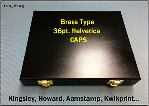 Kingsley Machine 36pt Helvetica Brass Type Hot Foil Stamping Bookbinding