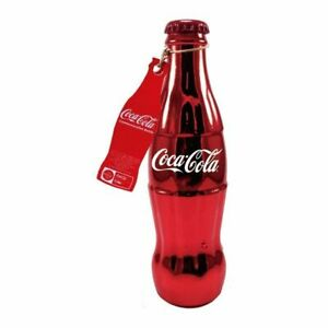 Coca Cola Red Plated Commemorative 1986 100-year Anniversary Bottle