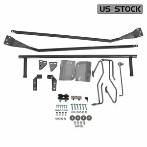 For 1953 1956 Ford F 100 Truck Hood Tilt Flip Kit Stainless Combo Conversion Kit