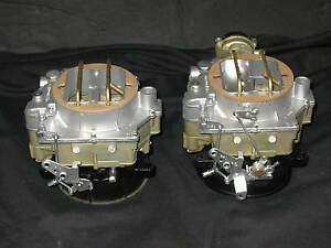 1957 1961 Dual Quad Carter Wcfb Carburetors Corvette Chevy 283 245hp 2626s 2627s