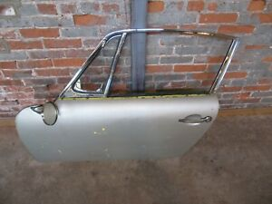 Porsche 911 912 Swb Left Door With Glass Chrome Frame Hinges 1965 1967