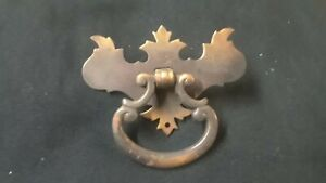 Set Of 8 Colonial Chippendale Style Dresser Drawer Pull Handles