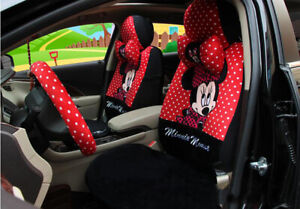New Red Cartoon Mickey Mouse And Minnie Car Seat Cover Seat Covers Car Covers
