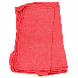 New 100 Cotton Pre washed Shop Towels Red 25 Lbs