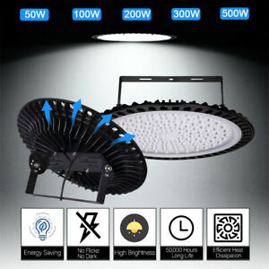 Led High Bay Lights 500w 300w 200w 100w 50w Warehouse Ufo Led Shop Light Fixture