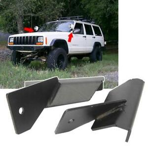 For Jeep Cherokee Xj Comanche Mj Lower Windshield Led Light Bar Mount Bracket
