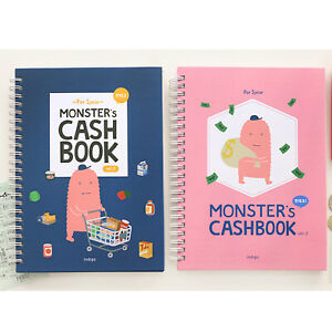 Monster s Cash Book For 1 Year ver 2 Money Planner Budget Organizer