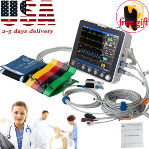 Multi parameter 8 Patient Monitor Vital Signs Hospital Cardiac Monitor Device