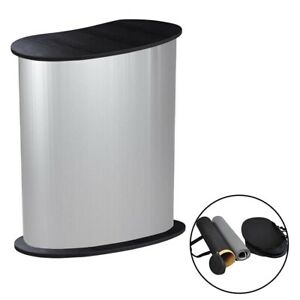32 X 16 X 37 Portable Tradeshow Podium Table Counter Stand Booth With Wall