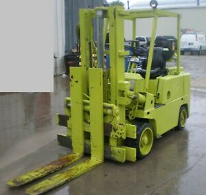 Forklift 1978 Clark C500 80 With Capacity 7 000 Lbs Gas Engine Automatic Trans