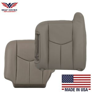 2003 2007 Chevy Tahoe Suburban Silverado Gmc Sierra Synthetic Leather Cover Gray