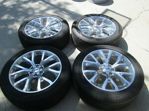 22 Ford F150 Factory Expedition Polished Alloy Wheels Rims Tires New Take Offs