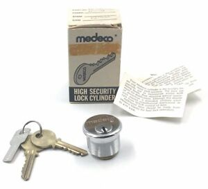 Medeco High Security Lock Cylinder Part 10 100 00 Us26d Nos In Box 10 053a 2 Key
