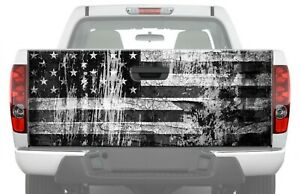 Distressed American Flag Truck Tailgate Decal Bw Graphics Pickup Rear Vinyl Wrap
