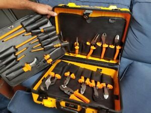 Klein High Voltage Tool Set Includes 6 Piece Insulated T Handle Allen Wrench Set