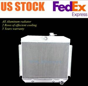 Cu5056 For 55 56 57 Chevy One Fifty Series 6cyl Position 3 Row Aluminum Radiator
