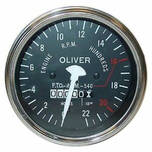 Oliver Tractor Tachometer For 55 Super gas diesel 66 Rc Super 77 Rc 550