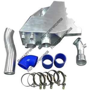 Cold Air Intake Pipe Airbox Kit For Rx7 Rx 7 Fd stock Twin Turbo Blue 92 02