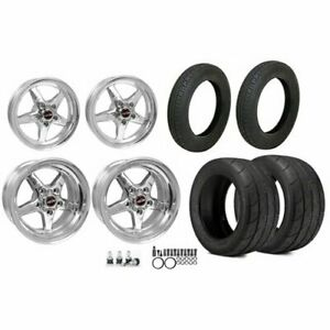 Race Star Wheels 92 Afxpol 92 Series Drag Star Wheel And Tire Kit Includes 2