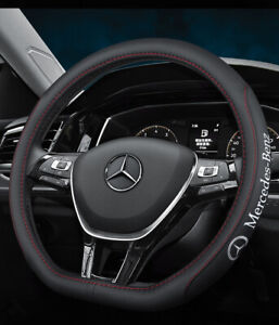15 Car Steering Wheel Cover Genuine Leather For Mercedes benz Nice