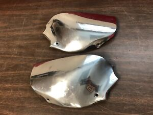 1951 1952 Chevy 4 Door Lower Rear Stone Guards Shields Extensions Nos Pair 819