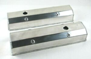 Sbc Chevy 283 350 Tall Fabricated Aluminum Valve Cover Polished Bpe 2301p