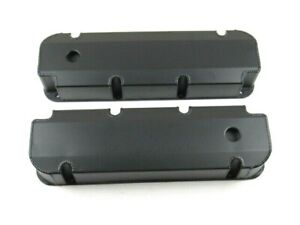 Bbf Ford 429 460 Fabricated Aluminum Valve Covers W Hole Black Bpe 2340bc