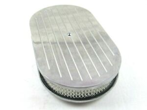 15 X 2 Oval Ball Milled Air Cleaner W Filter Element Polished Bpe 1115