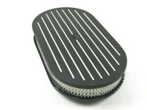15 X 2 Oval Ball Milled Air Cleaner W Filter Element Black Bpe 1115bk