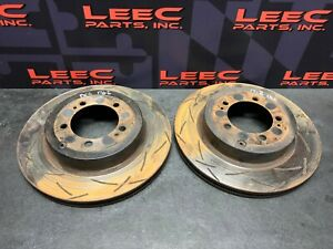2006 Mitsubishi Evolution Evo 9 Ix 8 Dba Slotted Rear Brake Rotors