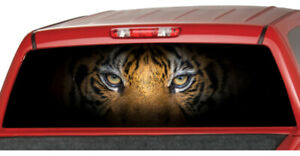 Eyes Of Tiger Rear Perforated Window Graphics Truck Decal Suv Sticker Vinyl Cat