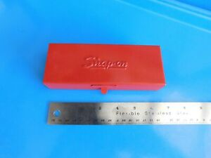 Used snap On Tools 1 4 In Dr Tool Storage Metal Box Vintage 1980 kra222b
