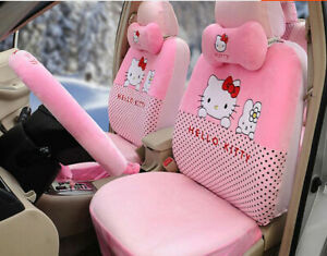18pc Luxury Universal Hello Kitty Car Seat Covers Cushion Accessories Pink 050l