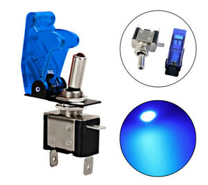 Led Light Toggle Switch Cover On Off For Car Truck Lights With Blue 12v 20a