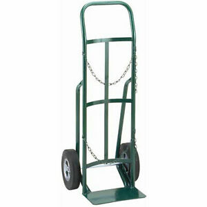 Single Cylinder Cart Truck With Continuous Handle 10 Pneumatic Wheel 800 Lbs