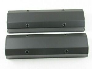 1958 87 Chevy 327 350 Fabricated Aluminum Tall Valve Covers Black Bpe 2302bc