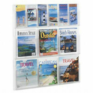 Safco Reveal Literature Rack 30x2x34 3 4 6 And 6 Pockets Lot Of 1