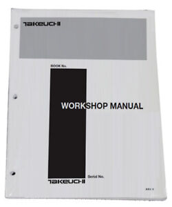 Takeuchi Tb175 Compact Excavator Workshop Service Repair Shop Manual