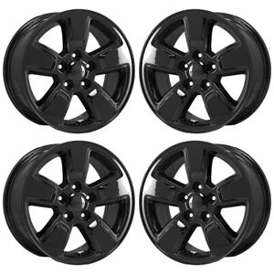 16 Jeep Liberty Gloss Black Wheels Rims Factory Oem Set 9084